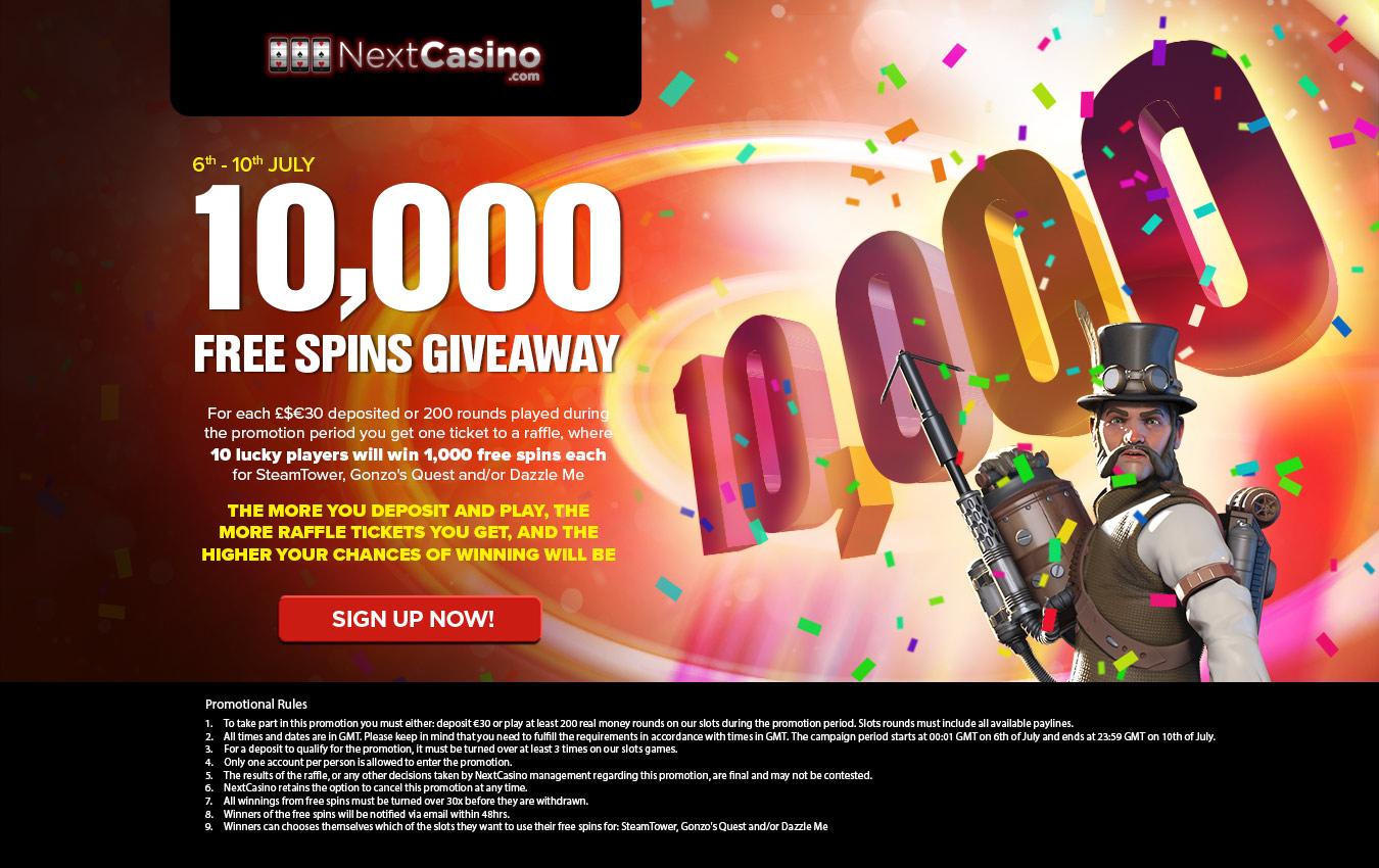 10 free spin casino