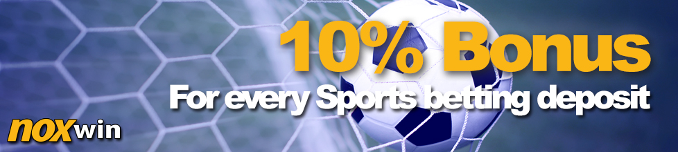 Sports betting bonus – 10% cash bonus for every deposit